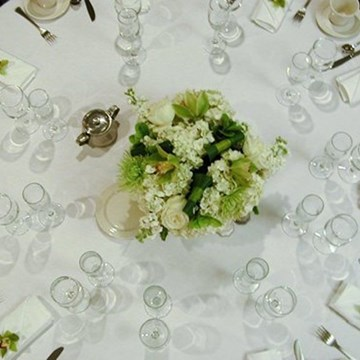 Wedding Table set-up at the Hilton Strathclyde