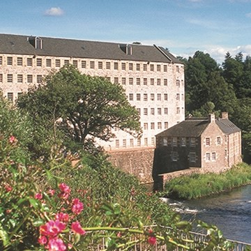 New Lanark Hotel flower view