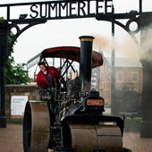 Steam engine at summerlee gates
