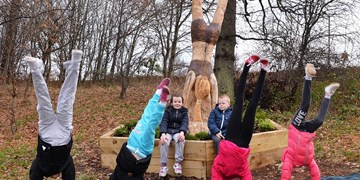 New sculpture at Strathclyde Country Park celebrates childhood fun
